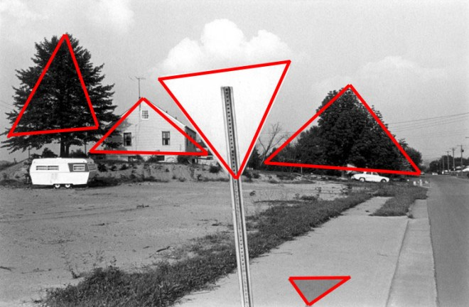 Figure 1: Note all the triangles in the shot.