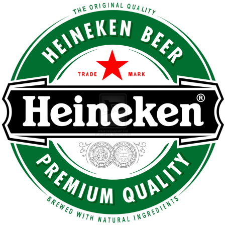 Heineken's complementary colors: Green and the Red Star