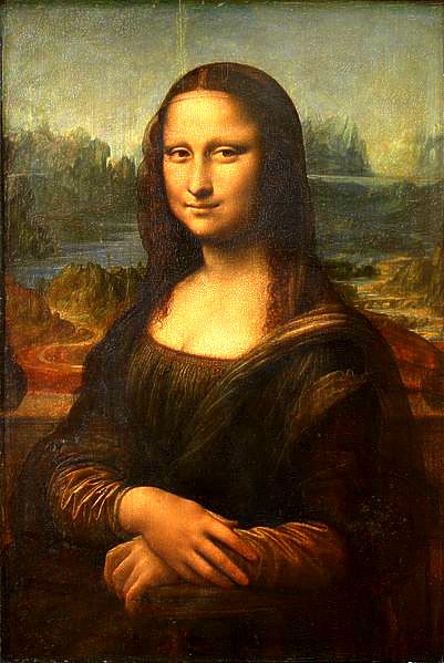 The Mona Lisa, and her forever mysterious gaze and expression.