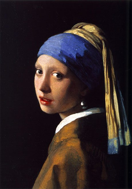 """""""Girl with the Pearl Earring"""" by Johannes Vermeer, 1665"""