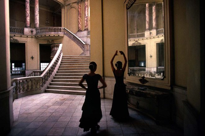 Practicing tango in Havana's Grand Theater, 1998