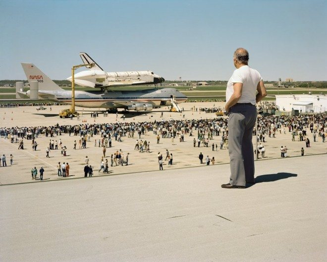 Joel Sternfeld. The Space Shuttle Columbia Lands at Kelly Air Force Base, San Antonio, Texas, March 1979