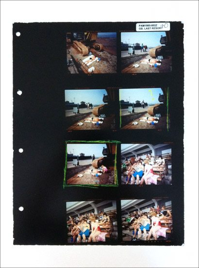 "Martin Parr contact sheet from ""The Last Resort"""
