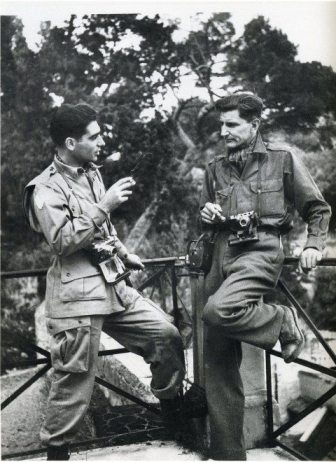 Robert Capa with George Rodger in Naples, 1943
