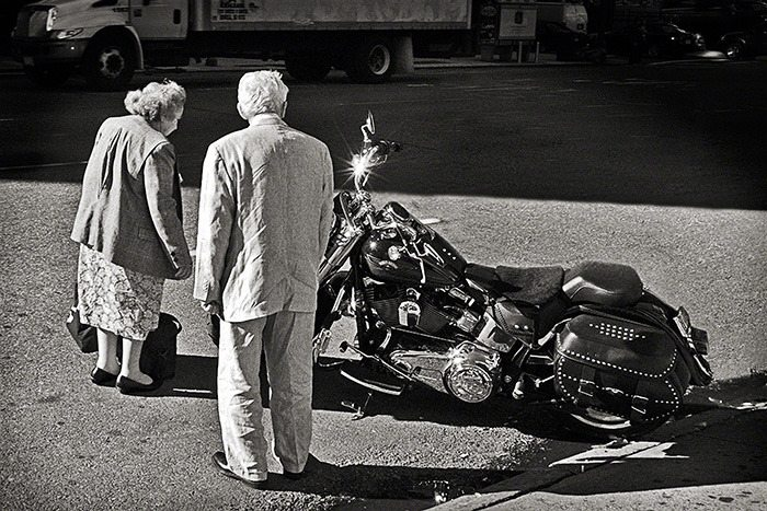 Senior Bike Admirers, New York City, 2008 (pg 129)