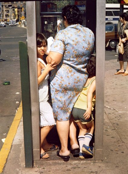 Helen Levitt / NYC (Phone Booth) 1988