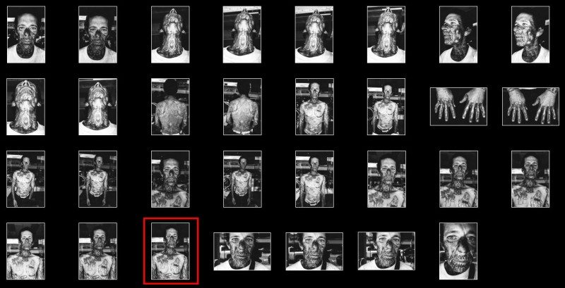 1x1.trans Street Photography Contact Sheets #1: Face Tattoo, Downtown LA 2014