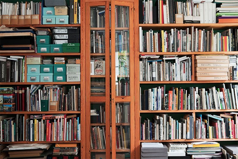 Some of Martin Parr's photobook library, 2011