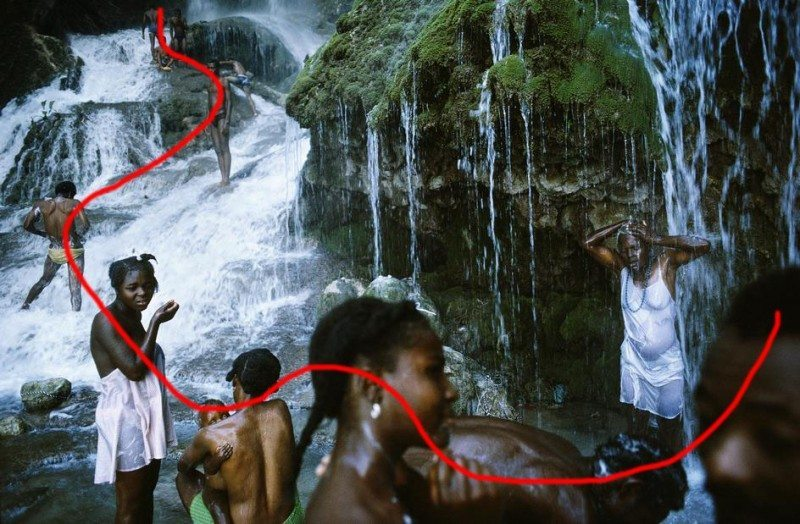 Note how the curve of the photograph flows you through the image-- from the foreground to the background