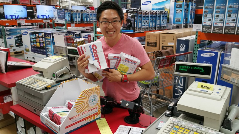 Picking up my film at Costco, excited like a little kid at Christmas :)
