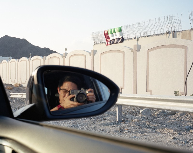 Dubai selfie on the Mamiya 7