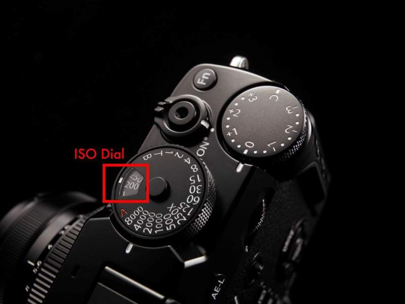 The ISO dial integrated in the X-Pro 2 (you can change the ISO by pulling up the ring on the shutter dial, and turning it to change the ISO)