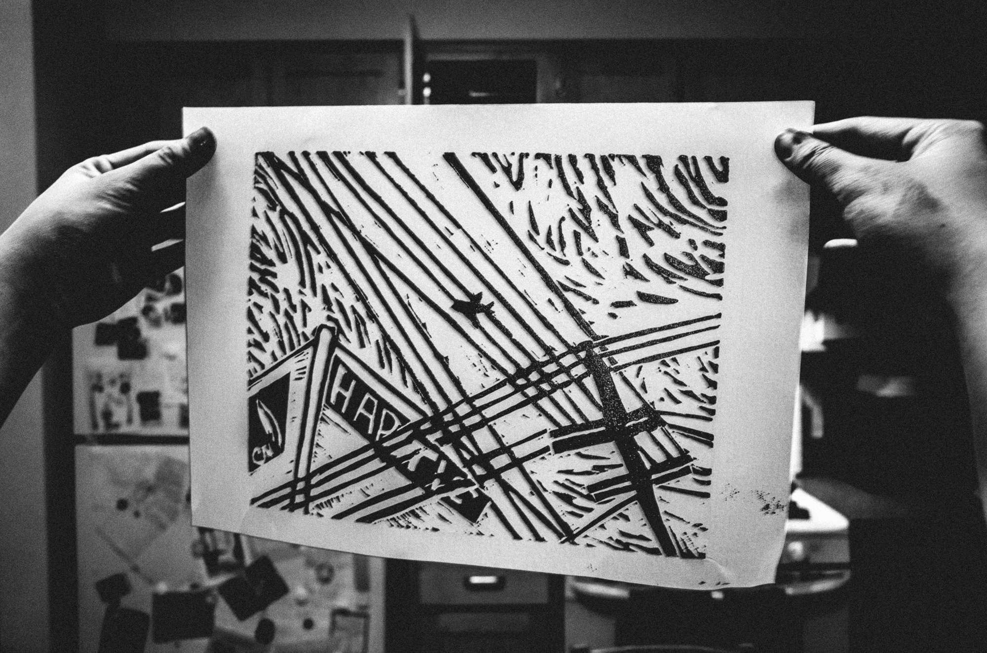 Between digital and analog: handmade linoleum prints of Eric Kim's photography