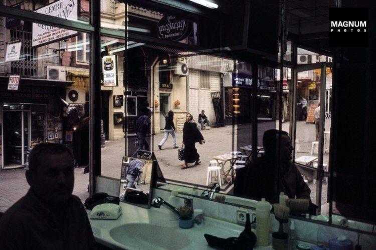 TURKEY. Istanbul. 2001. View from a barbershop near Taksim Square.