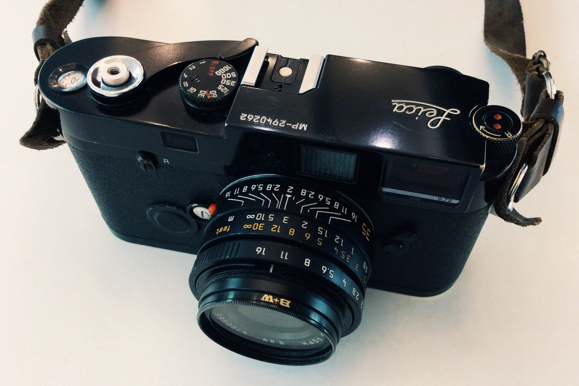 A rangefinder: my Leica MP film camera with 35mm f/2 Lens