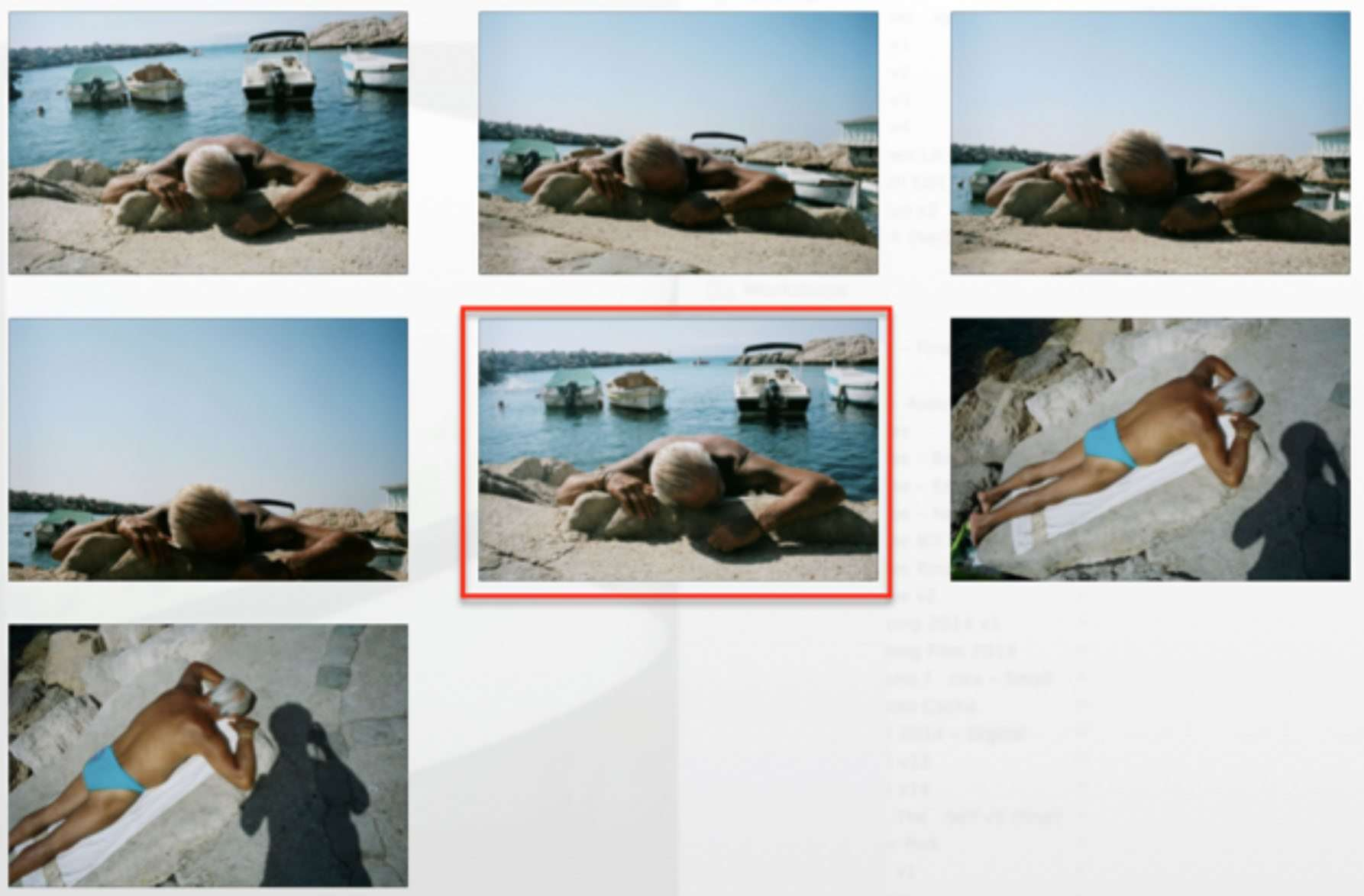 Marseille contact sheet // Portra 400