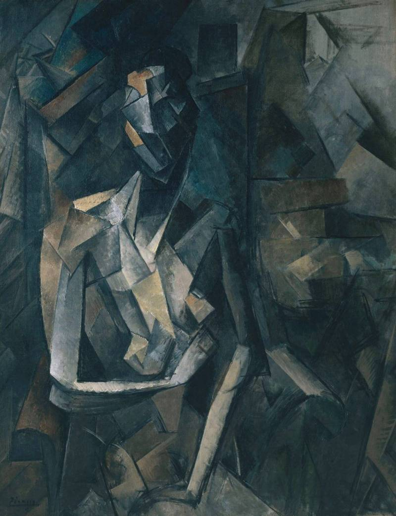 Seated Nude 1909-10 by Pablo Picasso 1881-1973