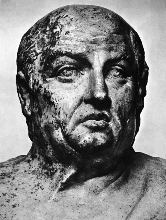 Sculpture of Seneca