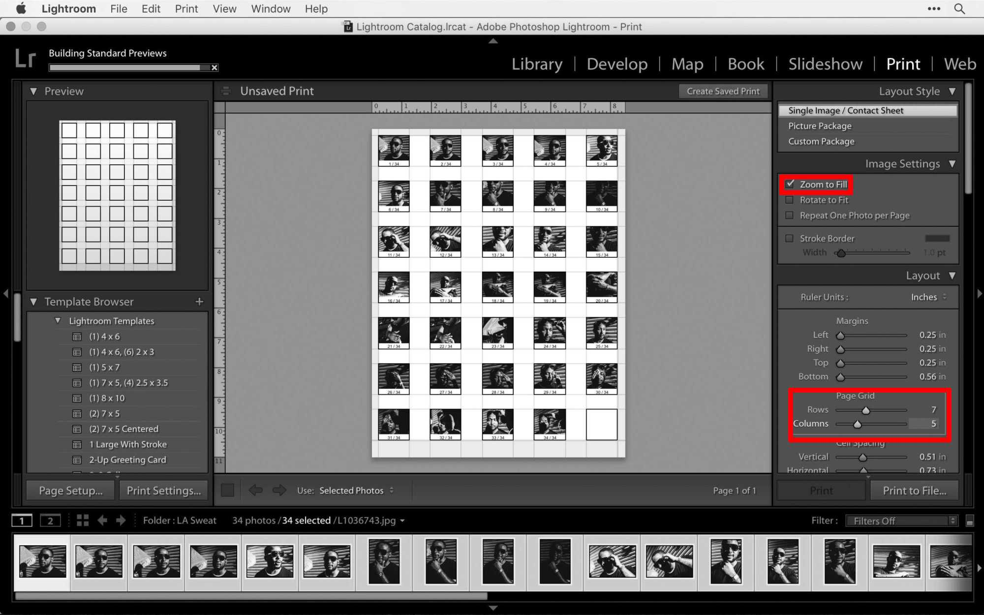 how to make contact sheet in access