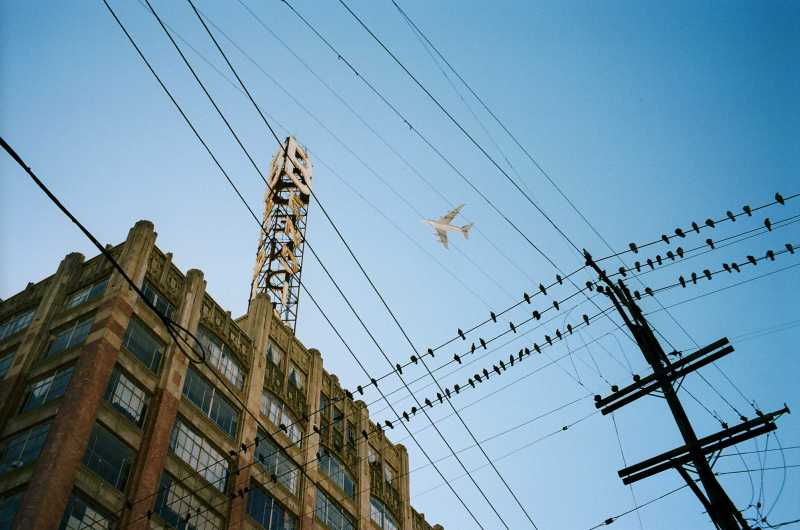 eric kim color street photography downtown la plane