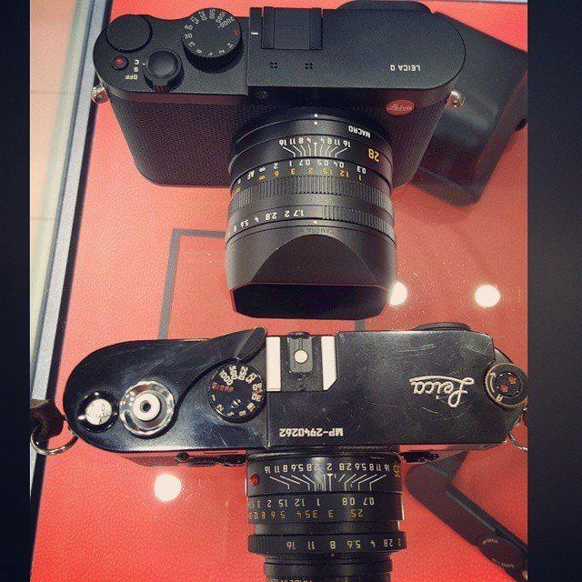 Leica MP next to Leica Q