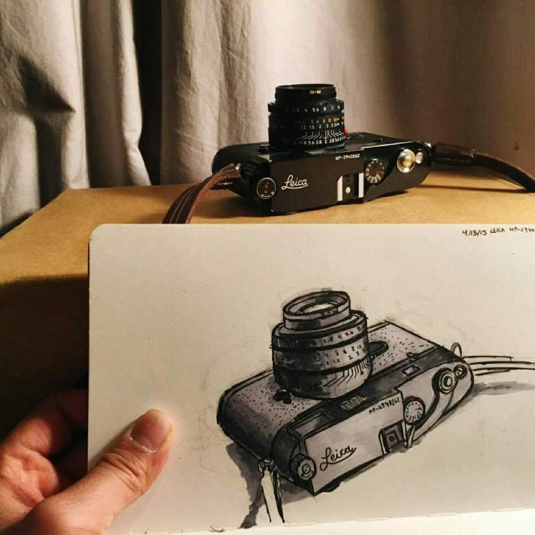 Sketch of my Leica MP by Phillip Kim