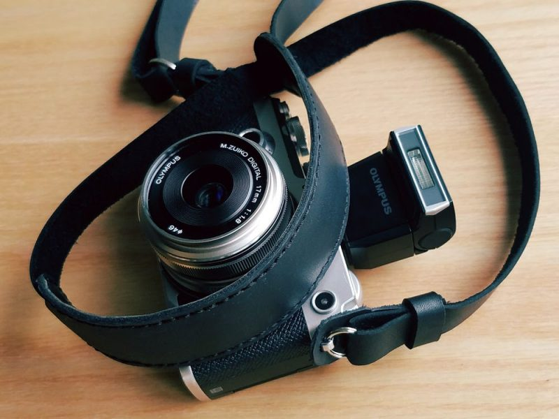 Olympus Pen-F with prototype Henri Black Strap