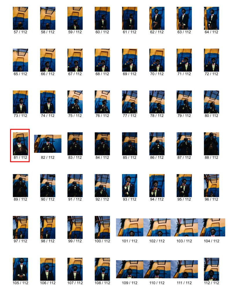 eric kim contact sheet new orleans street photography portrait orange