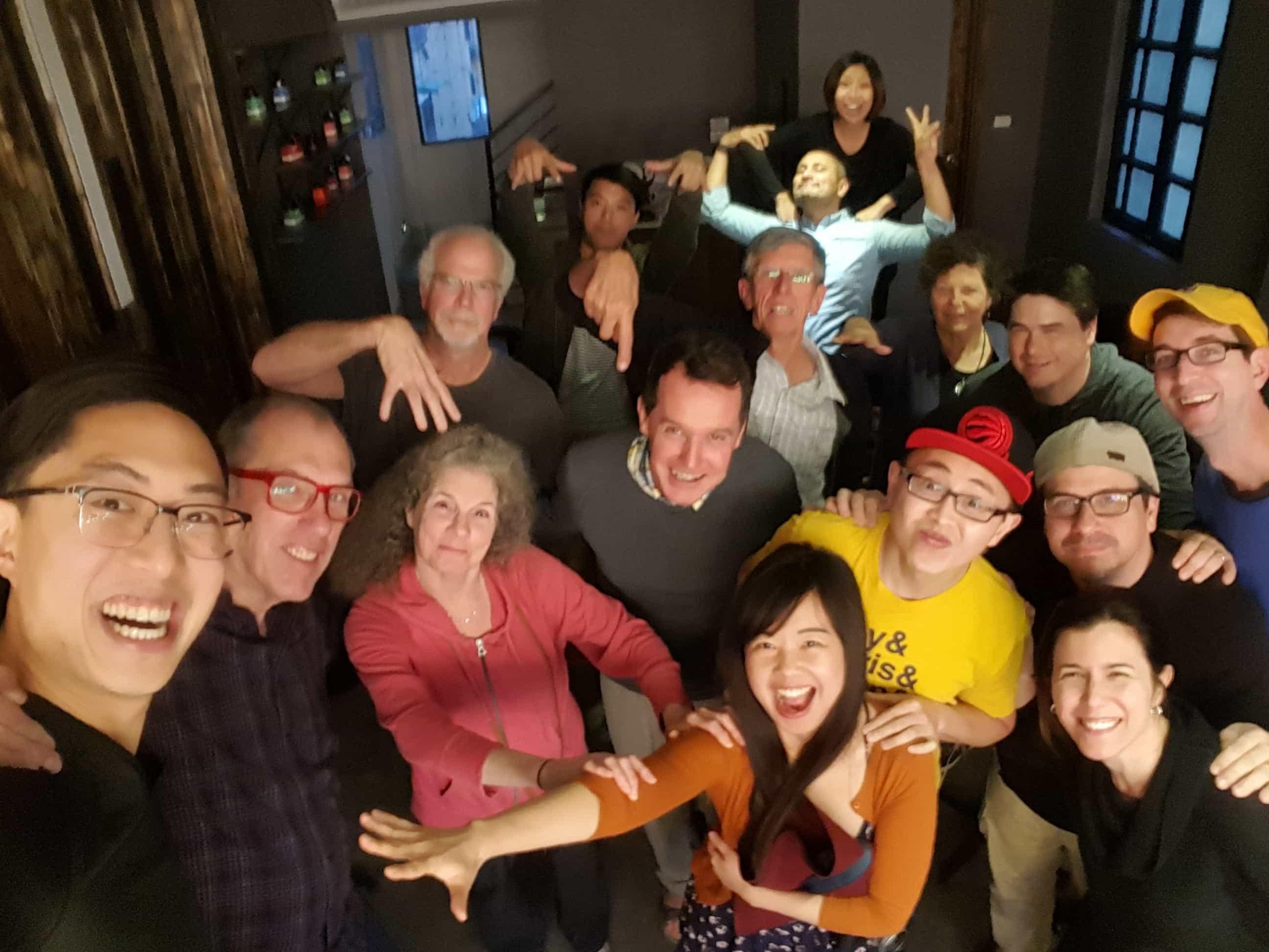 eric kim hanoi to papa group selfie