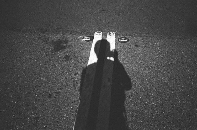 eric kim self portrait leica - trix 1600- black and white