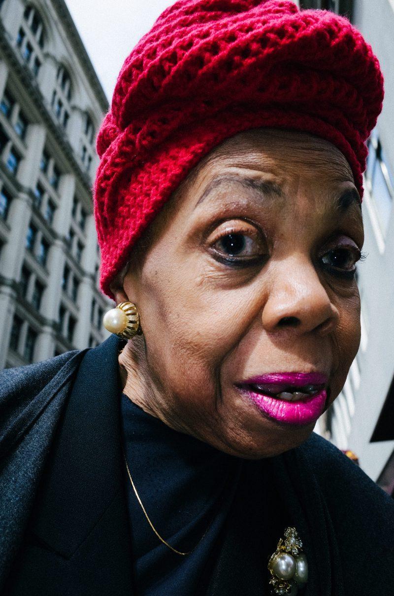 eric kim street photography portrait pink lipstick new york city