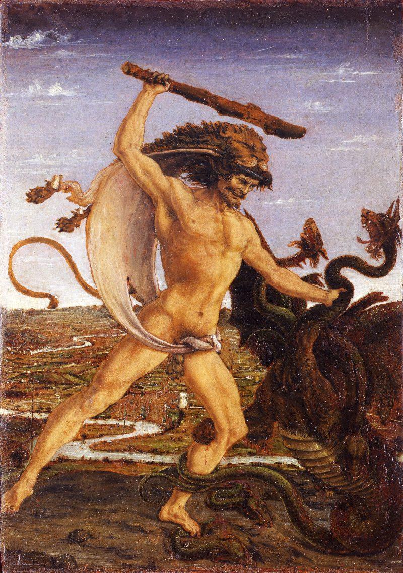 Hecules killing the Hydra