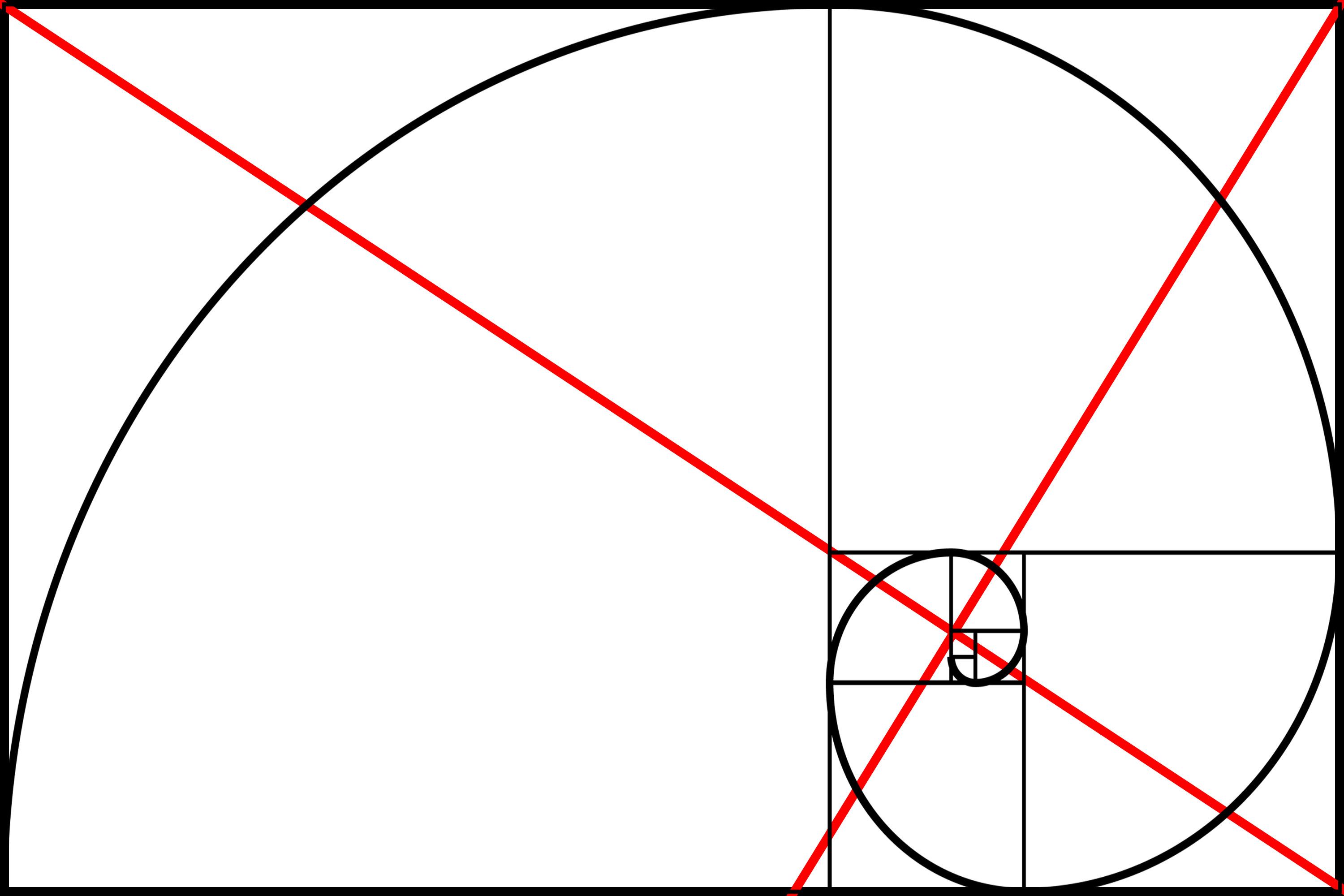 Drawing Lines In Keynote : Golden rectangle composition