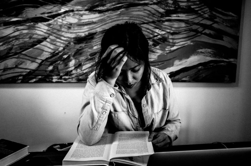 Cindy studying / Berkeley, 2016