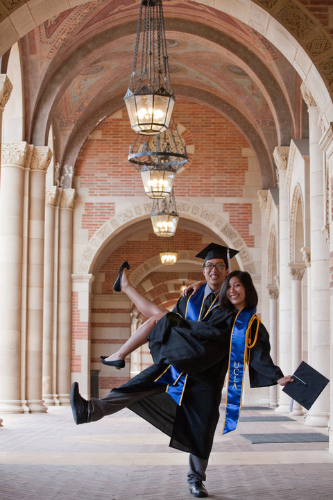 Cindy and my graduation picture, UCLA 2010. Dreaming big!