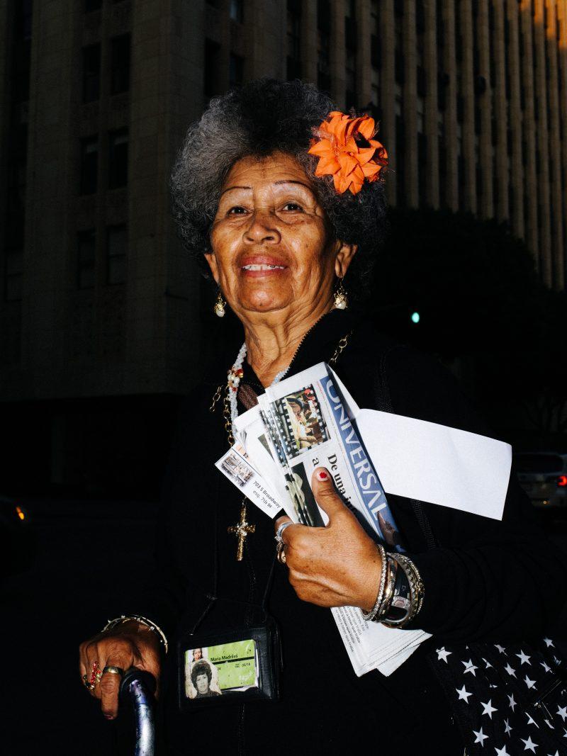MARILA MARDRILES. Downtown LA Street Portrait with Pentax 645z