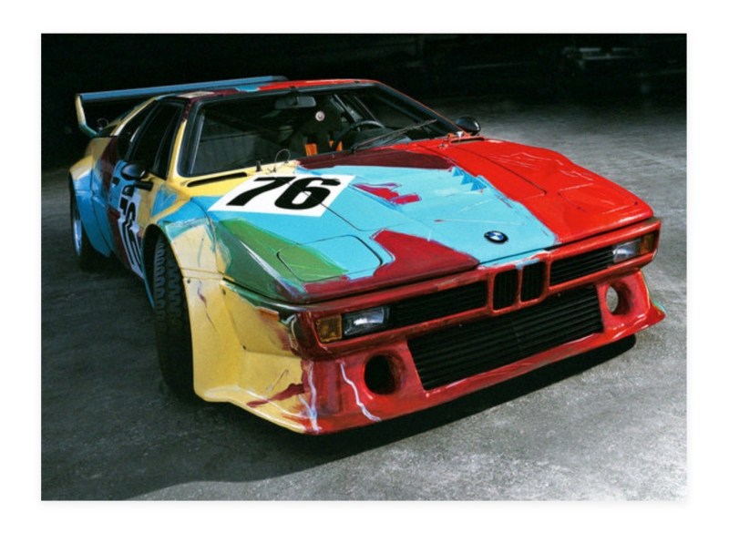andy warhol bmw art car3