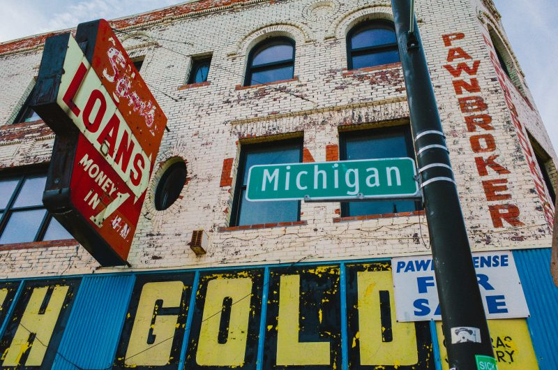 eric kim street photography - Only in America-12 urban landscape detroit gold michigan loans