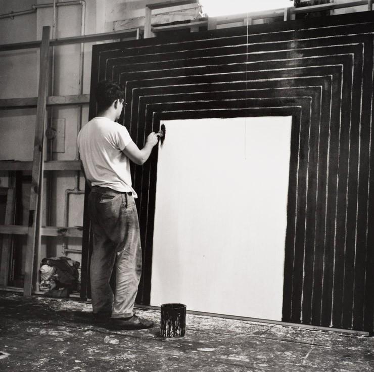 Frank Stella at work