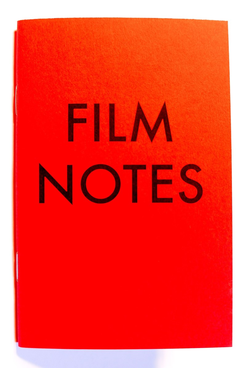 Say Hello to FILM NOTES