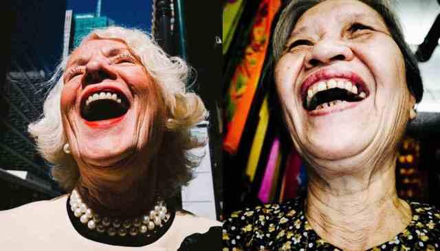 Eric kim street photography laughing ladies NYC hanoi
