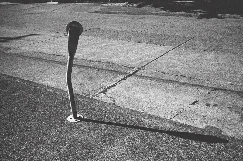 Lone parking meter. Berkeley, 2015