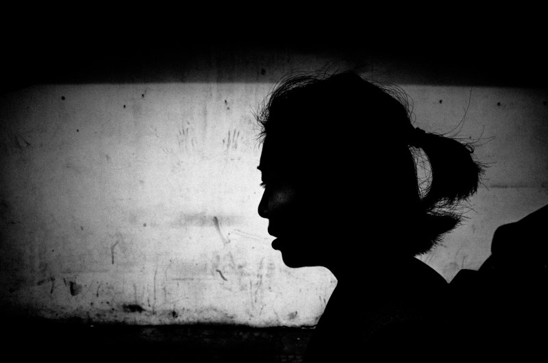 Hanoi, 2017 #cindyproject. Silhouette, see the negative space to the left of her, which allows her to exit the frame.