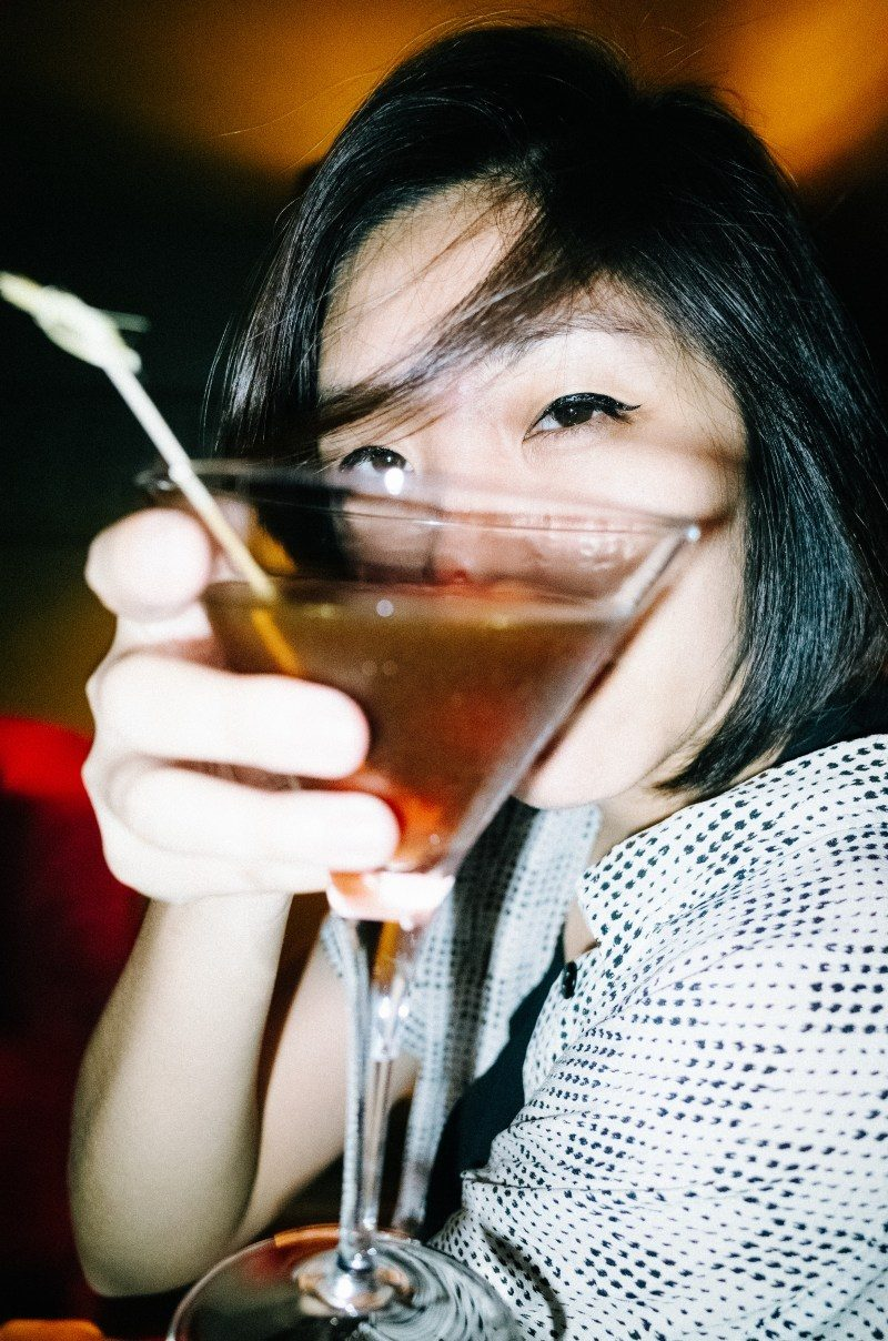 Cindy with cocktail. Saigon, 2017 #cindyproject