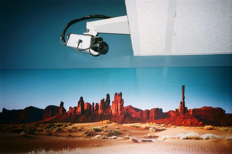 Security camera in desert. Australia, 2014. Portra 400
