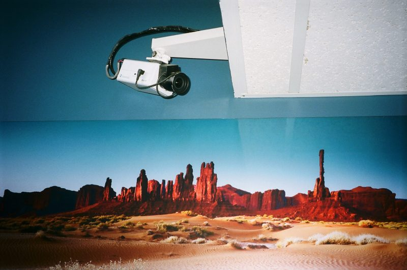 Security camera in desert. Australia, 2014. Portra 400