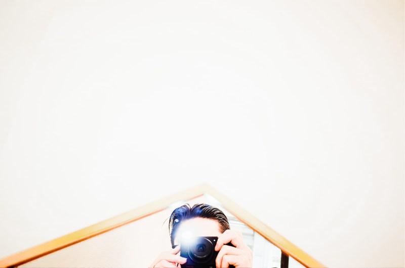 Eric Kim selfie with flash.