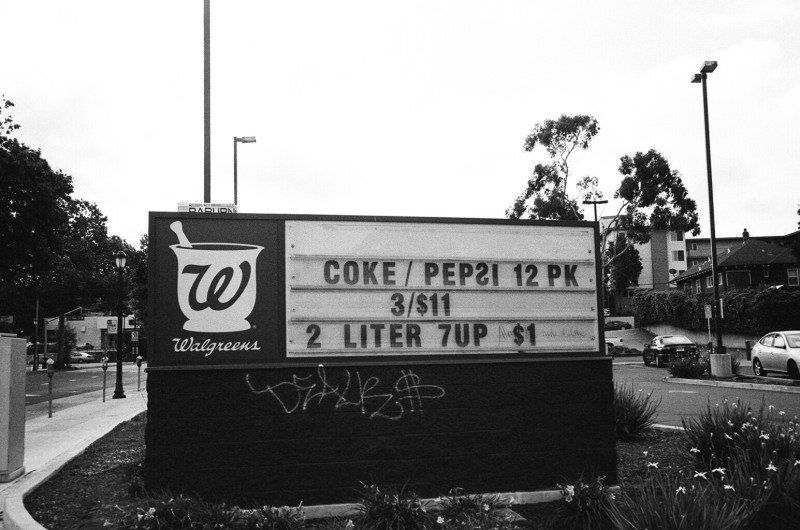 Walgreens. 2 Liters of Soda only for $1. Oakland, 2015