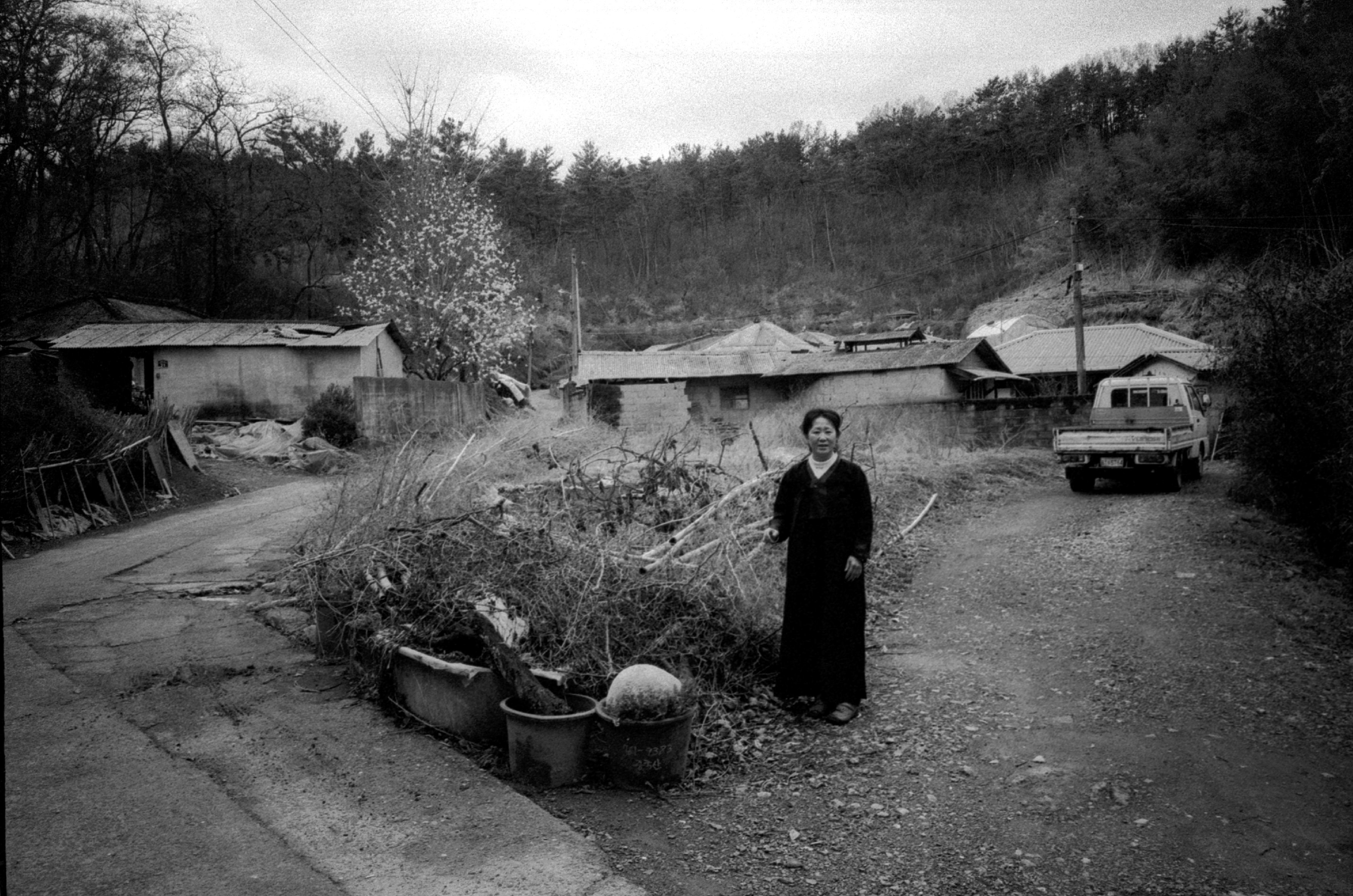 My mom at her childhood home in Busan, 2014.