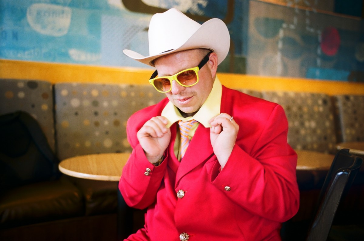 Red cowboy. Red, yellow, blue. Los Angeles, 2013. Street photograph by Eric Kim.